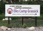 Elks Camp Grassick sign