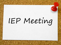 IEP Meeting on a note
