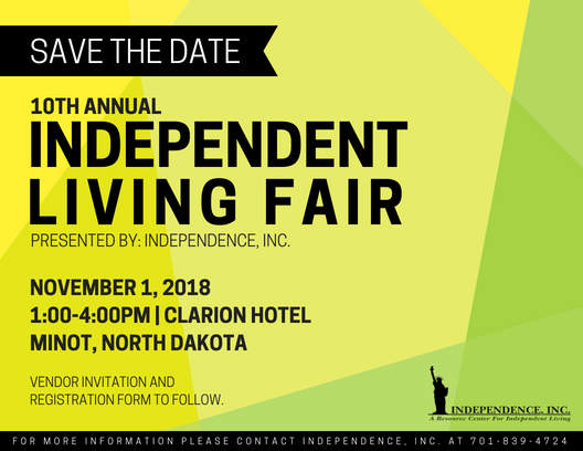 Save the Date - 10th Annual Independent Living Fair
