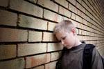 Boy sad at school