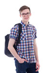 Youth boy with backpack