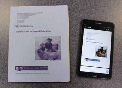 Parent Guide to Special Education - print edition and digital on tabley