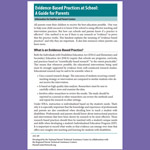 Evidence-Based Practices at School: A Guide for Parents