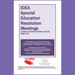 IDEA Special Education Resolution Meetings