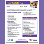 Your Child at 1 Year (Checklist)