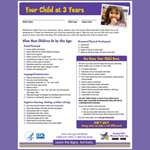 Your Child at 3 Years (Checklist)