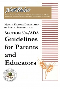 Section 504/ADA Guidelines for Parents and Educators cover