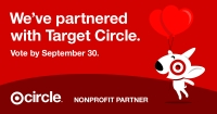 """We've partnered with Target Circle. Vote by September 30. Target Circle Nonprofit Partner"
