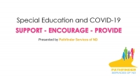 Special Education and COVID-19 title screen