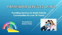 Title screen of Pathfinder Services of ND webinar